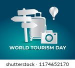 world tourism day tourism day... | Shutterstock .eps vector #1174652170