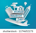 world tourism day tourism day... | Shutterstock .eps vector #1174652173