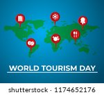world tourism day tourism day... | Shutterstock .eps vector #1174652176