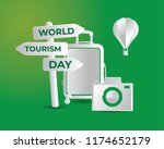 world tourism day tourism day... | Shutterstock .eps vector #1174652179