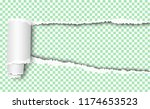 vector elongated torn hole in... | Shutterstock .eps vector #1174653523