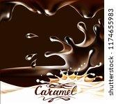liquid chocolate  caramel or... | Shutterstock .eps vector #1174655983