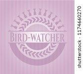 bird watcher pink emblem | Shutterstock .eps vector #1174660270