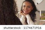 pretty african american girl... | Shutterstock . vector #1174671916