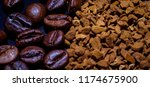 coffee beans  sublimated coffee ...   Shutterstock . vector #1174675900