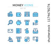 money icons. vector line icons... | Shutterstock .eps vector #1174678276