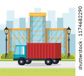 delivery service truck icon | Shutterstock .eps vector #1174682290