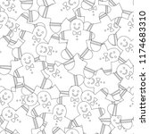 gingerbread. black and white... | Shutterstock .eps vector #1174683310