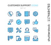 customer support icons. vector... | Shutterstock .eps vector #1174684783