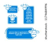 collection of quote with cow... | Shutterstock .eps vector #1174684996