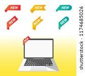 vector illustration of new tag... | Shutterstock .eps vector #1174685026