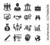 Business icons, management and human resources set1. vector eps 10. More icons in my portfolio. | Shutterstock vector #117468658