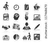 business icons  management and... | Shutterstock .eps vector #117468670