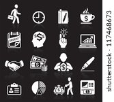 business icons  management and...   Shutterstock .eps vector #117468673