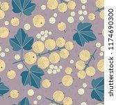 ripe white currant seamless... | Shutterstock .eps vector #1174690300