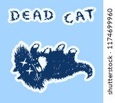 cat is dead and lies on the... | Shutterstock .eps vector #1174699960