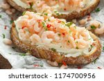 prawns  shrimp seafood... | Shutterstock . vector #1174700956