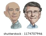 september 9  2018 caricature of ... | Shutterstock . vector #1174707946