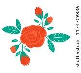 floral wreath element | Shutterstock .eps vector #1174709836
