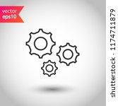 screw nut vector icon. settings ... | Shutterstock .eps vector #1174711879