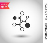 molecule icon. dna vector icon. ... | Shutterstock .eps vector #1174711993