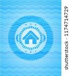 home icon inside light blue... | Shutterstock .eps vector #1174714729