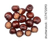 Pile Of Conkers Isolated On...