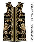 design dress with golden... | Shutterstock .eps vector #1174723456