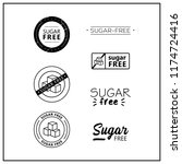 sugar free icons on white...   Shutterstock .eps vector #1174724416