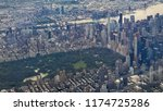 aerial view of new york city... | Shutterstock . vector #1174725286