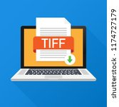 download tiff button on laptop...