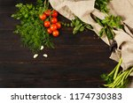 tomatoes  garlic   beans and... | Shutterstock . vector #1174730383