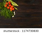 tomatoes  garlic   beans and... | Shutterstock . vector #1174730830