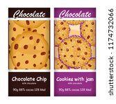 vector set of chocolate bar ... | Shutterstock .eps vector #1174732066