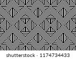 seamless pattern with striped... | Shutterstock .eps vector #1174734433