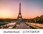 paris eifel tower sunrise | Shutterstock . vector #1174736929