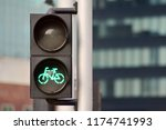 bicycle traffic light with... | Shutterstock . vector #1174741993