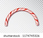 christmas candy border isolated ... | Shutterstock .eps vector #1174745326