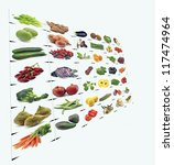 mural of fruits and vegetables... | Shutterstock . vector #117474964