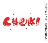 cartoon doodle swear word   Shutterstock .eps vector #1174753813