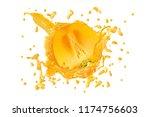 juice or liquid splashing with... | Shutterstock . vector #1174756603