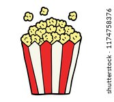 cartoon doodle cinema popcorn | Shutterstock .eps vector #1174758376