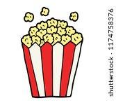 cartoon doodle cinema popcorn | Shutterstock .eps vector #1174758376