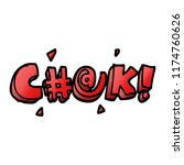 cartoon doodle swear word   Shutterstock .eps vector #1174760626
