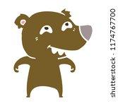 flat color style cartoon bear...   Shutterstock .eps vector #1174767700