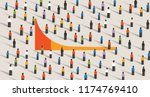 simple chart of long tail... | Shutterstock .eps vector #1174769410