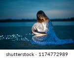 beautiful attractive girl on a... | Shutterstock . vector #1174772989