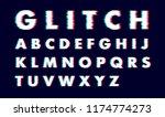 alphabet vector distorted... | Shutterstock .eps vector #1174774273