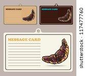 set of vector message cards... | Shutterstock .eps vector #117477760