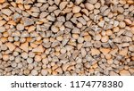 material for heating the house. ... | Shutterstock . vector #1174778380